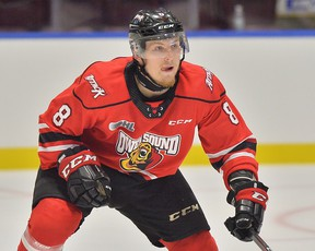 Andrew Perrott of the OHL's Owen Sound Attack. (File photo)