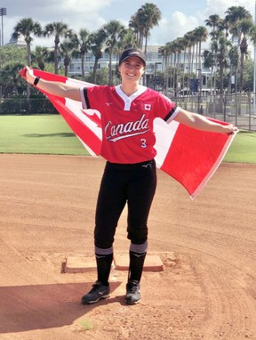 Brantford's Erika Polidori was recently named to the Canadian women's softball team that will compete at the 2021 Summer Olympic Games in Tokyo.