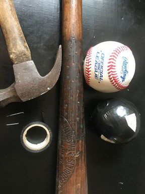 Baseballs and bats lasted longer in the author's day, thanks to a succession of repairs with small nails and plenty of electrical tape.