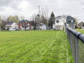 Town Park Field in Gananoque on Saturday. The town and local league were given $100,000 to refurbish the field by the Blue Jays Care Foundation on Friday.