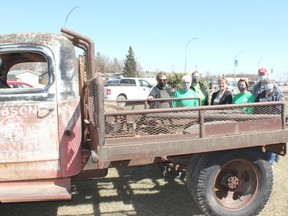 The Melfort Communities in Bloom committee has several projects planned for this summer, including turning this 1950s tow truck, donated for use by the Dobsons, into a planting feature along Saskatchewan Drive, across from Dairy Queen. Photo Susan McNeil.