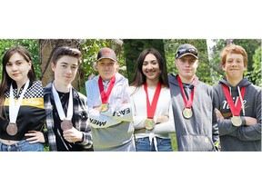 This school year, students at Kirkland Lake District Composite won big at the 2021 Virtual Skills Ontario Competition. They earned a gold medal in Robotics, bronze in Video Production and a solid 8th place finish in 2D Animation. Left to Right:  Molly McCormack, Joe McInnis, Ben Honeybourne, Shaylan Pratt., Anthony Dumas and Theo Kurz.