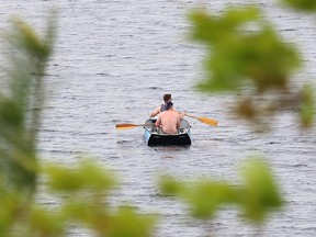 Fishermen search out the perfect location to fish at Lake Laurentian in Sudbury, Ont. on Tuesday May 25, 2021. John Lappa/Sudbury Star/Postmedia Network