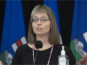 Alberta's chief medical officer of health Dr. Deena Hinshaw provided an update on COVID-19 and the ongoing work to protect public health, pictured on June 3, 2021. Photo by CHRIS SCHWARZ / Government of Alberta