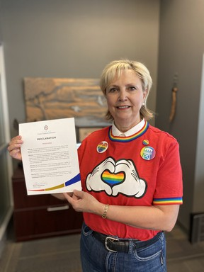 Fort Saskatchewan Mayor Gale Katchur recognized Pride Month in the City this week. The City will be hosting several online events in celebration this month. Photo Supplied.