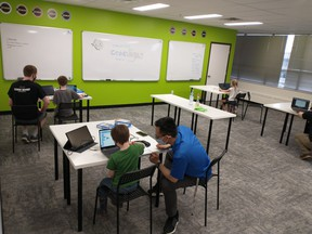 This summer, Code Ninjas Spruce Grove is hosting a series of summer camps aiming to teach basic computing skills to local youth. Photo by Michael Tang.