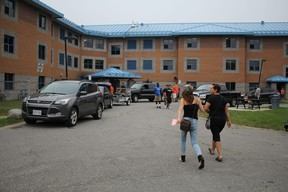Students move into residence at Sault College's Ray Lawson Hall in Sault Ste. Marie, Ont., on Sunday, Sept. 6, 2015. (BRIAN KELLY/THE SAULT STAR/POSTMEDIA NETWORK)