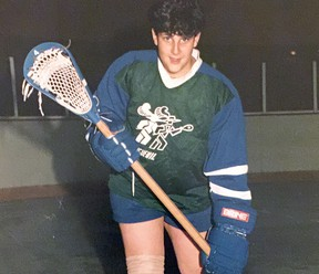 Benoit Douillette during his youth lacrosse days.