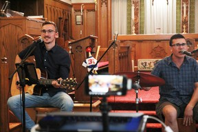 Local musicians Steven and Josh Wolfe perform in front a virtual crowd at St. Alban's Cathedral in July 2020. The pair of brothers will be playing on July 21 this summer. The TrypTych Summer Market Music series will return with more virtual performances this summer.