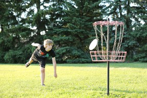 Disc golf is an inexpensive sport that uses baskets instead of holes, but keeps the best elements of regular golf. Photo courtesy Sabine Shabbits