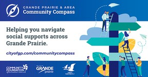 The Community Compass will gather hundreds of independent social services and programs across the region into one overall system and is a joint initiative by the County and City of Grande Prairie and the Community Foundation of Northwest Alberta.