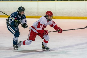 Photo provided   Soo Jr. Greyhounds centre Cooper Foster (right) has always wanted to play in the OHL