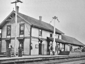 The first train rolled through the village of Norwood in 1885. Pictured is the villageÕs classic Van Horne CPR rail station photographed around 1920. The resident station master and his family resided on the upper floor, the waiting room and ticket counter occupied the ground floor and freight was stored in the single story section to the back. Unfortunately as usage declined NorwoodÕs Van Horne Station became very dilapidated and was torn down in 1977. SUBMITTED PHOTO