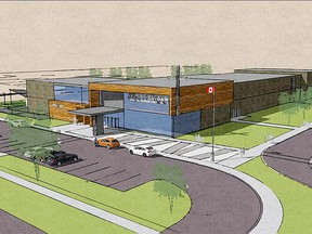 Shown is a proposed design from VG Architects for the new Catholic elementary school planned for south Chatham. (Handout)