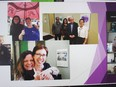 A slide as part of a tribute to outgoing SVCHC executive director Debbie St. John-de Wit.Handout/Cornwall Standard-Freeholder/Postmedia Network