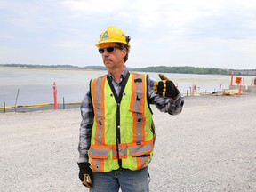 Andy Versteeg of the construction company Kiewit is the construction manager of the Cataraqui River bridge project.