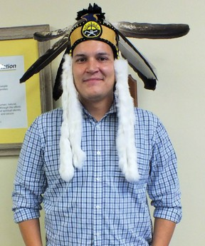 Photo by LESLEY KNIBBS/THE STANDARD Chief Brent Bissaillion of Serpent River First Nation.
