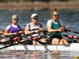 Dublin's Elisa Bolinger (second from left) is a member of Canada's U23 women's quad crew that will compete in the world rowing championships in the Czech Republic July 7-11.