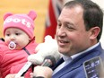 Mayor Christian Provenzano, holding his daughter Chloe in October 2018, is encouraging Sault Ste. Marie residents to support Every Breakfast Counts. BRIAN KELLY