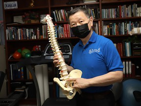 Andy Wang is a registered physiotherapist and acupuncturist at ASAP Physio in Sudbury, Ont. John Lappa/Sudbury Star/Postmedia Network
