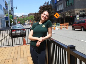 Julia Bertin, of Peppi Panini on Durham Street in Sudbury, Ont., said her patio should be ready to open on Friday June 11, 2021. The Ford government announced Monday that Ontario will move into Step One of its reopening plan on Friday at 12:01 a.m., three days ahead of schedule. Step One includes allowing non-essential retail stores to reopen, and bars and restaurants to begin serving customers on their patios. John Lappa/Sudbury Star/Postmedia Network