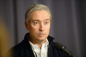 Minister of Innovation, Science and Industry François Phillippe Champagne says the funding will 'ensure' that one of Canada's largest steel producers will play a 'key part' in Canada's economic recovery and make 'significant progress' toward the government's climate targets. THE CANADIAN PRESS/Mike Sudoma