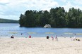 Photo by KEVIN McSHEFFREY/THE STANDARD Algoma Public Health has issued a swimming advisory for Elliot Lake's Spruce Beach because of high levels of bacteria.