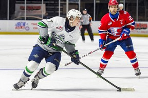 Sherwood Park's Keaton Dowhaniuk and Ardrossan's Jordan Gustafson will lace up next week for national U18 Summer Showcase. Photo Supplied