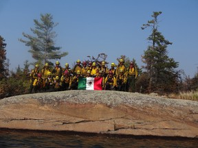 Mexican fire crews are lending a hand to help battle the 94 active blazes in northwestern Ontario.