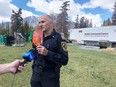 (Pictured) Banff Fire Chief Silvio Adamo encourages all residents and businesses sign up for the emergency alert system at banff.ca/Alert. Photo Marie Conboy.