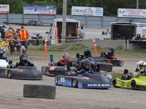 The only action last week was Thursday night on the infield oval.  Pending thunderstorms across southern Ontario threatened another race night at the Brighton Speedway Ð but this time lady luck was on their side.  Fifty-four race karts rolled through the gate and teams prepped for a fast night of action on the little oval. SUBMITTED PHOTO