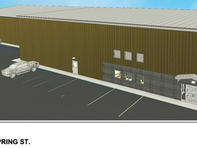 Drawing of expanded Westport Community Centre.