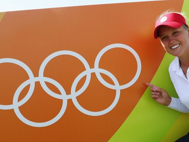 Brooke Henderson poses during a practice round prior to the start of the women's golf at the Rio 2016 Olympic Games. The Smiths Falls native is also representing Canada at the Tokyo Games, which open Friday. Scott Halleran/Getty Images/file photo