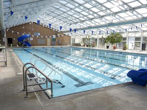 The Blenheim Gable Rees Rotary Pool & Lanes, shown here, and Wallaceburg Sydenham Pool facilities will reopen as part of Step 3 of the province's reopening plan on July 26. (Handout/Postmedia Network)