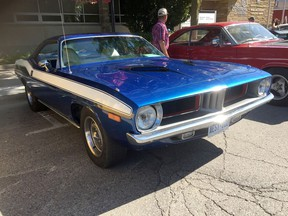 Art McDonald of Courtright, Ontario owns a 1972 Barracuda, and he had it on display at the 2019 edition of the WAMBO event at Wallaceburg. Peter Epp photo