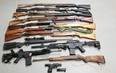 Photo supplied These are the firearms that were seized.