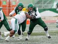 Mattland Riley, is part of the Roughriders camp roster. PHOTO BY JOSH SCHAEFER /Saskatoon