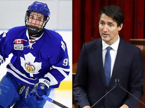 Prime Minister Justin Trudeau took the unusual step of criticizing a professional sports team when he weighed in on the Montreal Canadiens' selection of scandal-hit London Knights prospect Logan Mailloux.
