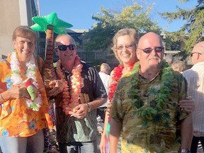 Partygoers attend the Alzheimer Society of Sarnia-Lambton's tropical-themed fundraiser in 2019. This year, the agency will be hosting its annual Jimmy Buffet-inspired fundraiser It's Five O'Clock Dockside at Alternative Grounds Dockside restaurant and Sarnia Bay Marina on Aug. 21 from 5 to 11 p.m. Handout/Sarnia This Week