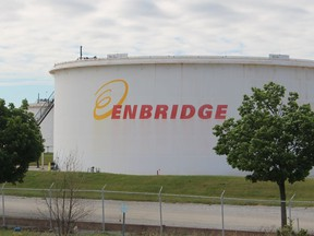 Enbridge facility on Plank Road in Sarnia. Court-ordered mediation continues between Enbridge and Michigan over its governor's efforts to shut down the Line 5 pipeline crossing in the Straits of Mackinac.  File photo/The Observer