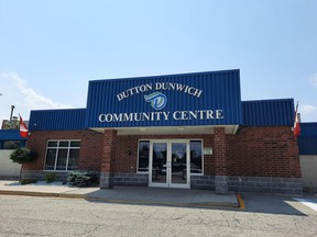 Dutton Community Centre is one of two locations of the vaccine clinic organized by the West Elgin Community Health Centre. The other is at the West Elgin arena in West Lorne. Victoria Acres photos