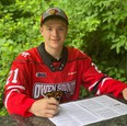 Thomas Chafe, the Owen Sound Attack's third-round pick, 47th-overall in 2021, has committed to the Scenic City squad. Photo supplied by the Owen Sound Attack.