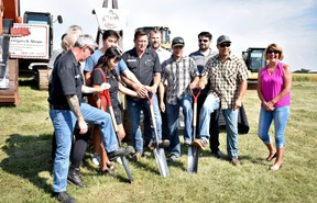 Rig Hand Distillery celebrated the groundbreaking of their new agri-tourism facility outside Nisku on Aug. 4, 2021 (Emily Jansen)