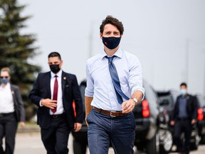Federal Liberal Leader Justin Trudeau announced Sunday morning Canadians will go to the polls Monday, Sept. 20. CHRISTOPHER KATSAROV/THE CANADIAN PRESS