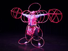 Traditional Hoop Dancer Beany John hails from Kehewin, AB, and has performed with Nelly Furtado on her SPIRIT INDESTRUCTIBLE tour. PHOTO SUBMITTED