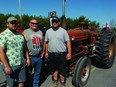 Samuel, Sylvain, and Israel Quenneville showed their solidarity with the farming community