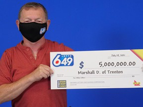 """Marshall Dominey of Trenton has that """"6/49 feeling"""" after winning a Lotto 6/49 top prize worth $5 million in the June 2 draw. SUBMITTED PHOTO"""