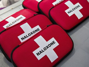 A naloxone kit is used to treat people suffering opioid overdoses.