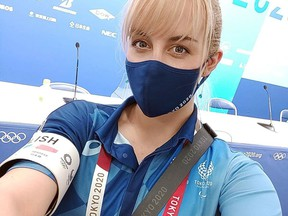 Samantha Ortibus of Wallaceburg worked as a volunteer interpreter at the Olympic Games in Tokyo. Contributed Photo