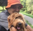 On Sept. 23, Hearts Together for CK Hospice will feature the Vavoulis family's experience with their husband and father, Peter, who's shown here with Juno. (Handout)